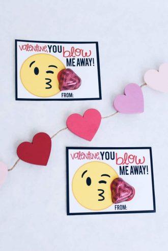 Emoji Free Printable Valentine's Day Cards