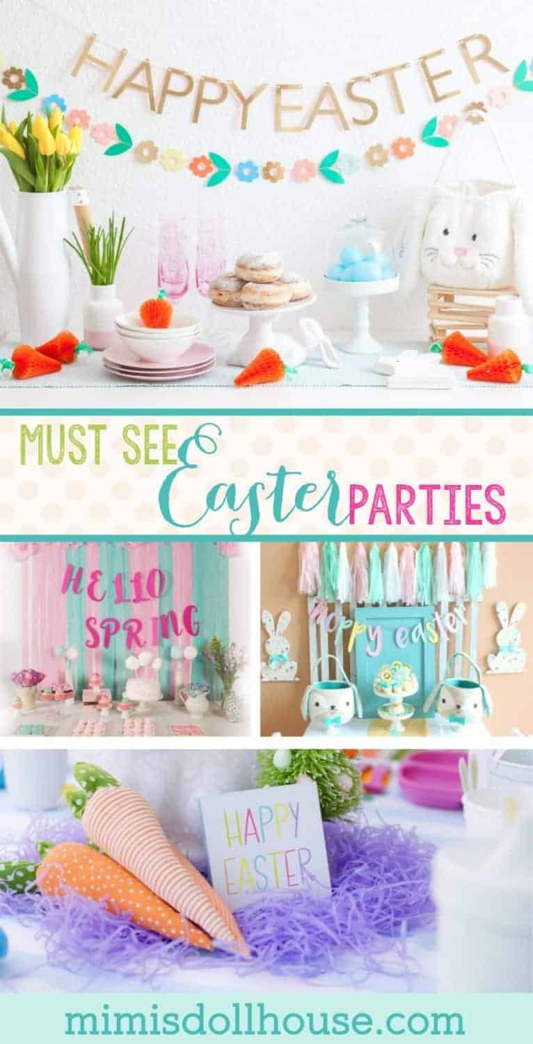 Easter themed party ideas: 10 must see Easter Parties for Spring. It's almost Easter time. Spring is one of my favorite seasons for parties and I'm sharing 10 beautiful MUST SEE Easter parties just in time for Spring.Be sure to check out all ourEaster Party Ideas and Inspiration.