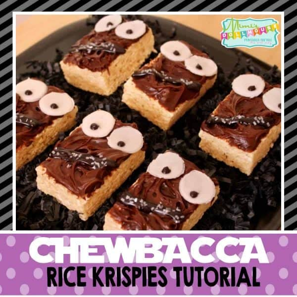 Looking for an easy DIY Star Wars party treat? These Chewbacc Rice Krispie Treats are adorable and easy to make! Check out the easy tutorial.