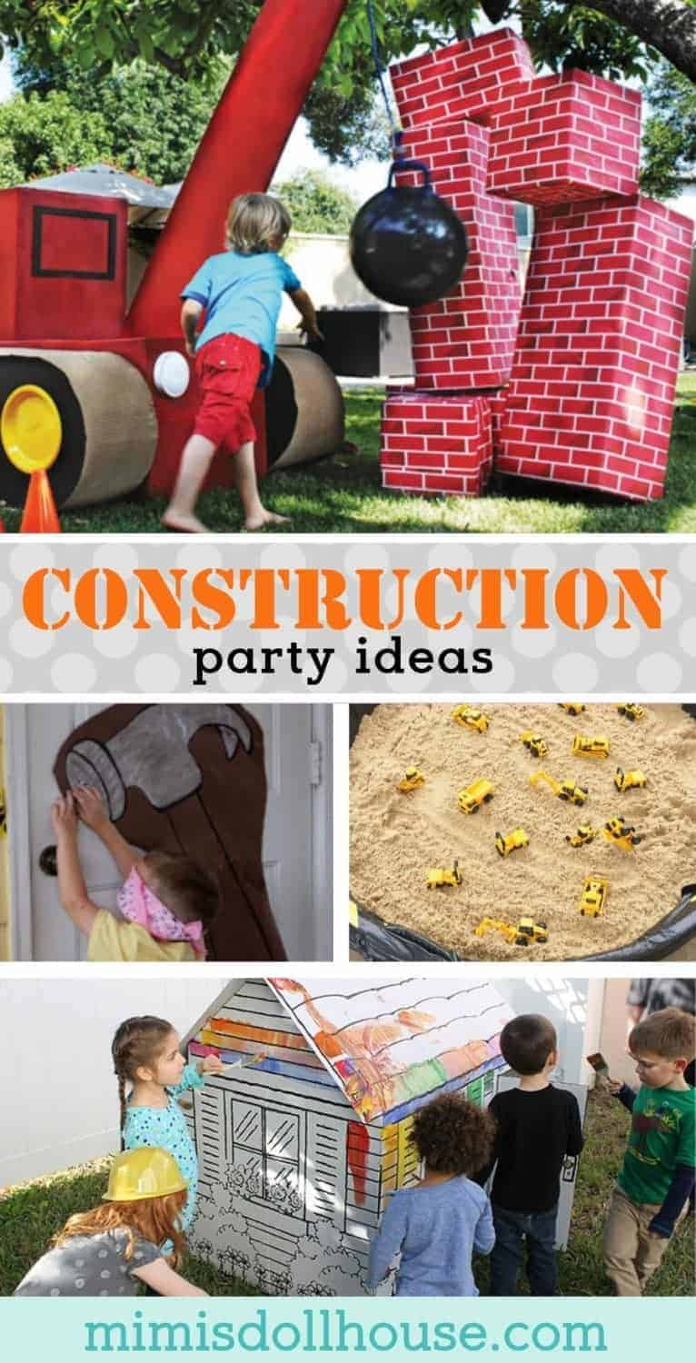 Looking for some fun construction themed party games for your construction birthday party?  This post is full of awesome construction party games and activities. #constructionparty #toolparty #partygames #partyideas #party