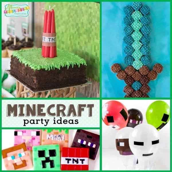 Looking for some awesome Minecraft birthday party ideas? This post is full of Minecraft party foods, Minecraft party decorations and more!