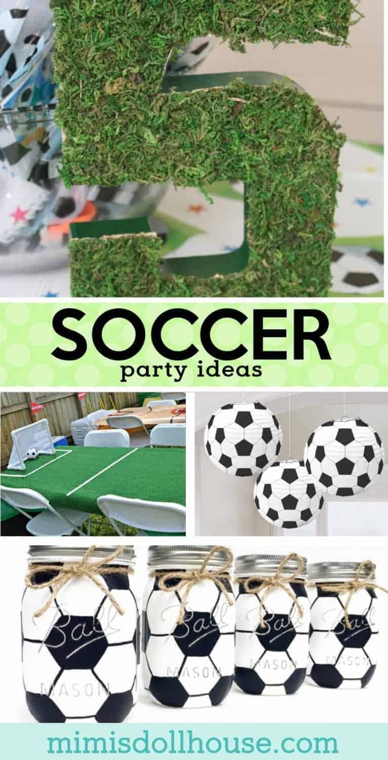 Soccer Birthday Party: Futbol Birthday Party Ideas. Let's kick this party into gear with some amazing Soccer birthday party ideas. Today I am sharing some of my favorite soccer party ideas to make a great futbol birthday party! Check out these soccer party decoration ideas and all our soccer party ideas and inspiration.Also...be sure to take a look at these soccer party dessert ideas!