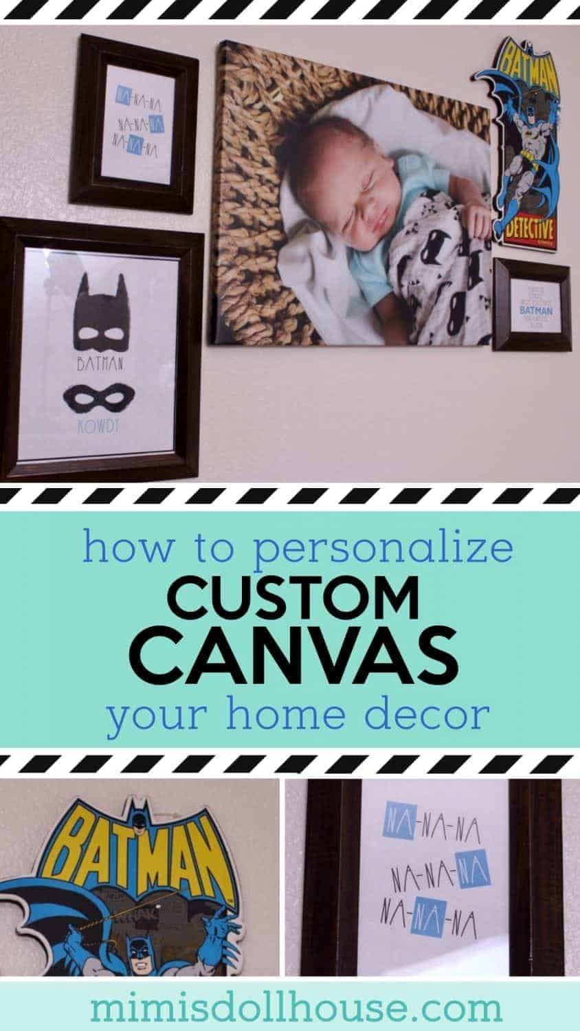 Looking for an inexpensive way to personalize your home decor?  Check out these affordable personalized canvases.