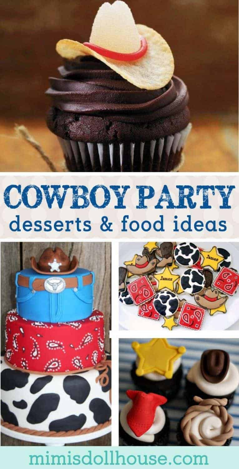 Yee-haw! Throw a rootin' tootin' cowboy birthday party with these amazing cowboy themed desserts! I'm sharing the yummiest, wildest western-themed party foods this side of the Mississippi today!! Looking forwestern-themed party ideas? Be sure to check out thisWild West Party,Cowboy Partyand all ourcowboy inspiration and ideas!