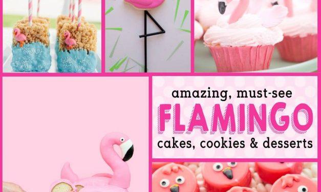 Flamingo Birthday Cakes & Flamingo Baby Shower Desserts