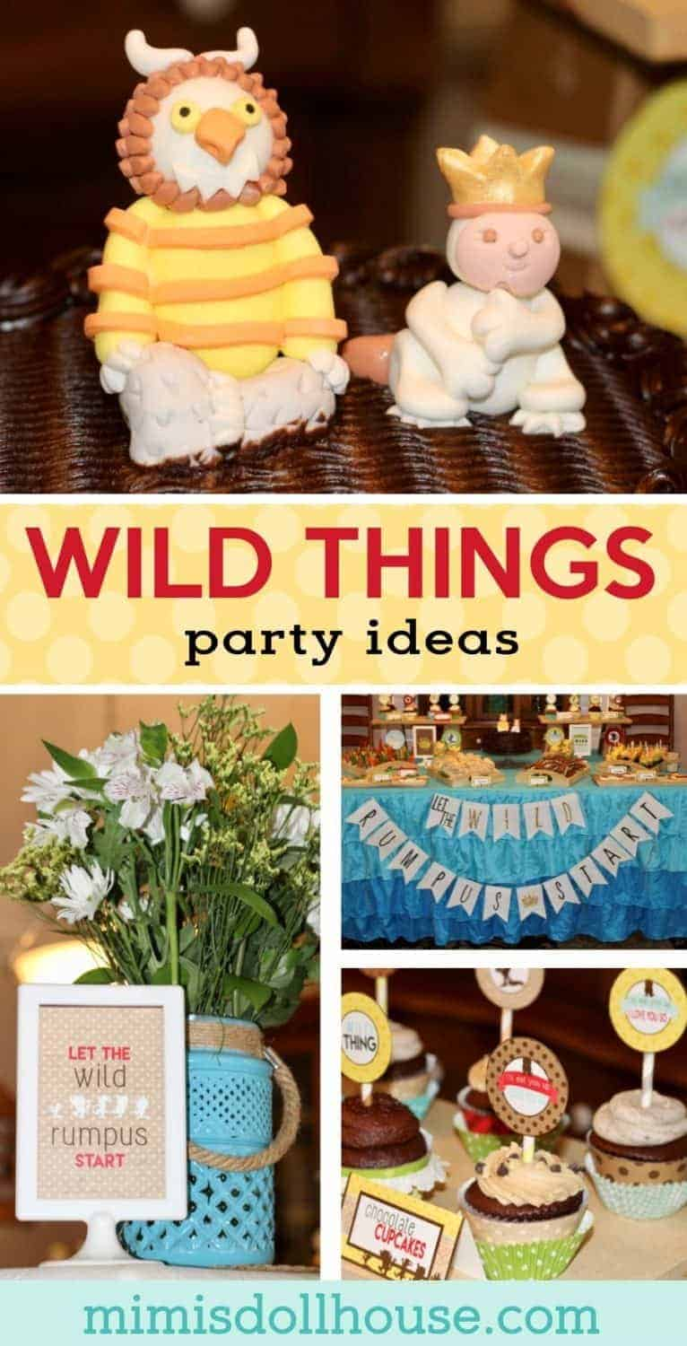 Wild Things Baby Shower: Where the Wild Things Are Party. Celebrate your little baby with a Wild Rumpus. Today I'm sharing my little man's Wild Things Baby Shower. Looking for Where the Wild Things Birthday Party Ideas? Be sure to also check out all of our Baby Shower Ideas and Boy Birthday Party ideas!